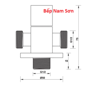 VAN CHIA 2 ĐƯỜNG NƯỚC HAFELE 495.61.254