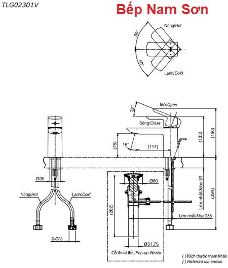 Vòi gật gù nóng lạnh GR TLG02301V
