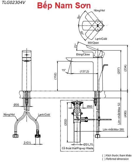 Vòi gật gù nóng lạnh GR TLG02304V