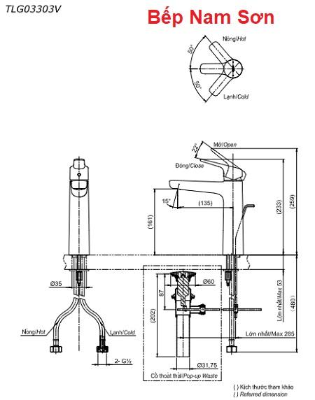 Vòi gật gù nóng lạnh GS TLG03303V