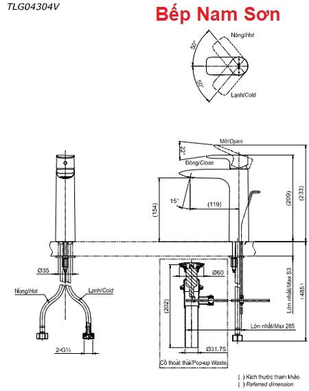 Vòi gật gù nóng lạnh GA TLG04304V