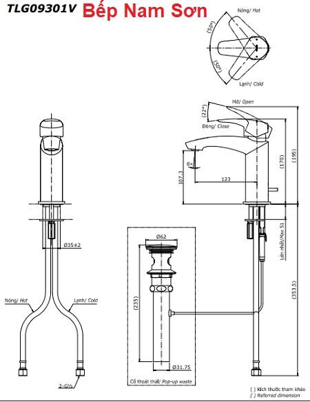 Vòi gật gù nóng lạnh GM TLG09301V