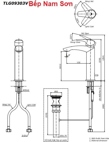 Vòi gật gù nóng lạnh GM TLG09303V