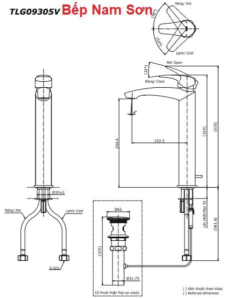 Vòi gật gù nóng lạnh GM TLG09305V
