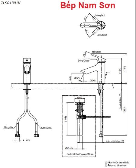 Vòi gật gù nóng lạnh LB TLS01301V
