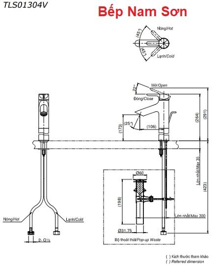 Vòi gật gù nóng lạnh LB TLS01304V