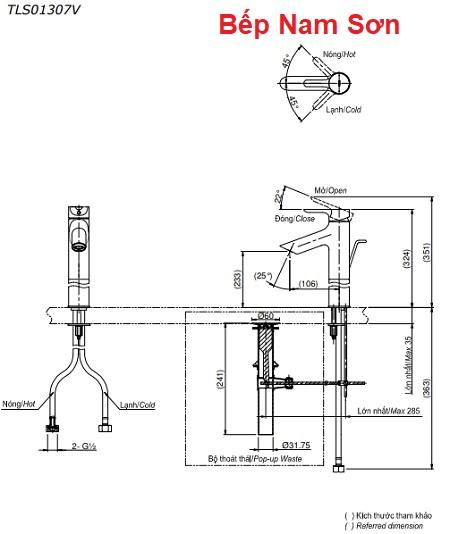 Vòi gật gù nóng lạnh LB TLS01307V