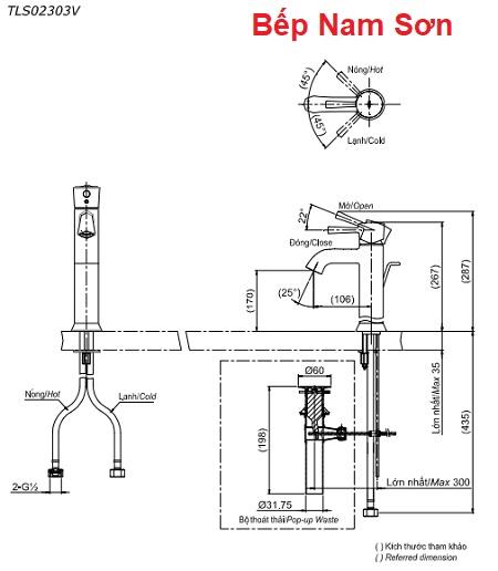 Vòi gật gù nóng lạnh LN TLS02303V