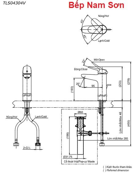 Vòi gật gù nóng lạnh LF TLS04304V