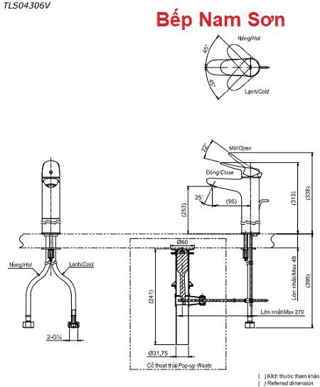Vòi gật gù nóng lạnh LF TLS04306V