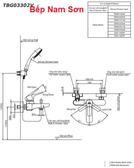 Bộ sen tắm nóng lạnh GS TBG03302V/DGH104ZR