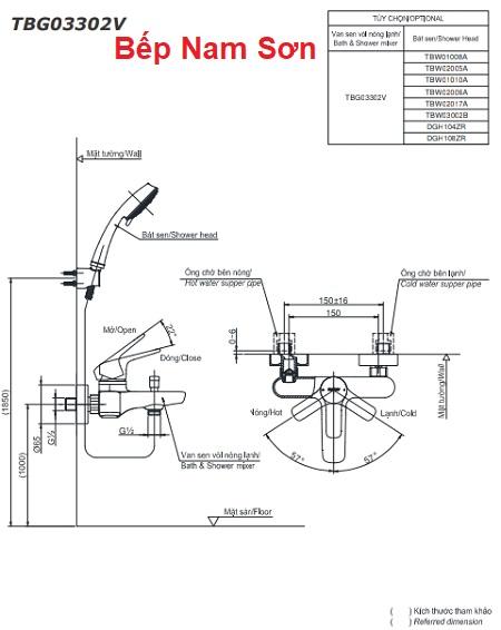 Bộ sen tắm nóng lạnh GS TBG03302V/DGH108ZR