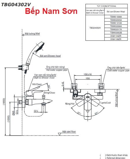 Bộ sen tắm nóng lạnh GA TBG04302V/DGH108ZR