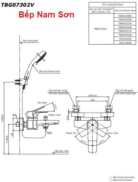 Bộ sen tắm nóng lạnh GE TBG07302V/DGH108ZR