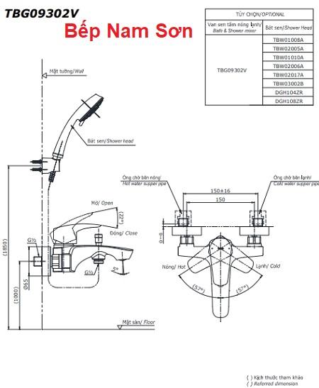 Bộ sen tắm nóng lạnh GM TBG09302V/DGH104ZR