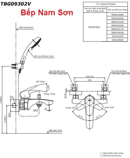Bộ sen tắm nóng lạnh GM TBG09302V/DGH108ZR