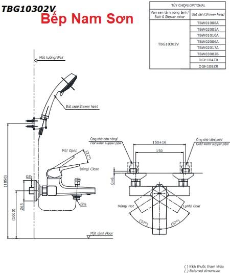 Bộ sen tắm nóng lạnh GB TBG10302V/DGH108ZR