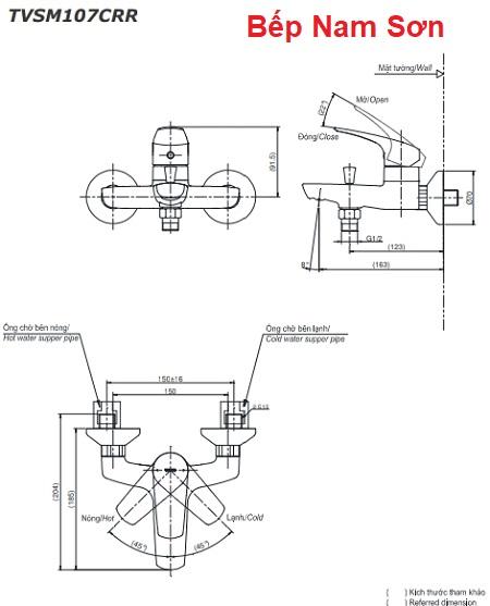 Bộ sen tắm nóng lạnh CRES TVSM107CRR/DGH108ZR