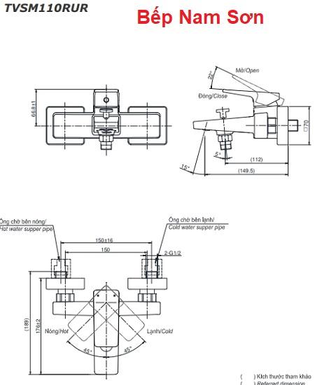 Bộ sen tắm nóng lạnh RUFICE TVSM110RUR/DGH104ZR