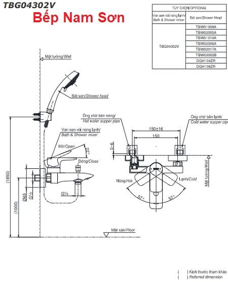 Bộ sen tắm nóng lạnh GA TBG04302V/DGH104ZR