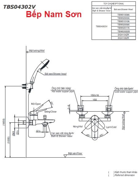 Bộ sen tắm nóng lạnh LF TBS04302V/DGH104ZR