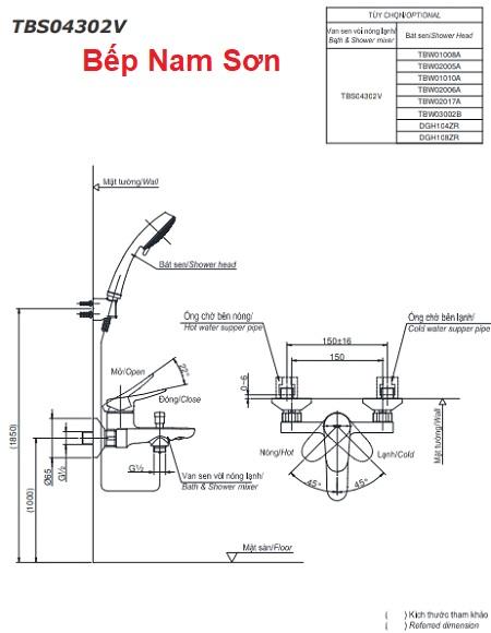 Bộ sen tắm nóng lạnh LF TBS04302V/DGH108ZR