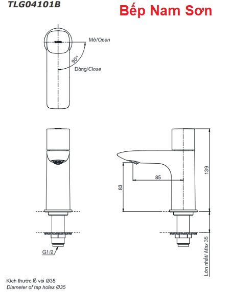 Vòi chậu nước lạnh GA TLG04101B