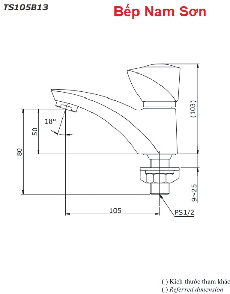 Vòi nước lạnh TS105B13