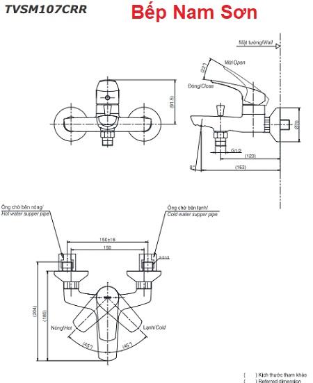 Bộ sen tắm nóng lạnh CRES TVSM107CRR/DGH104ZR